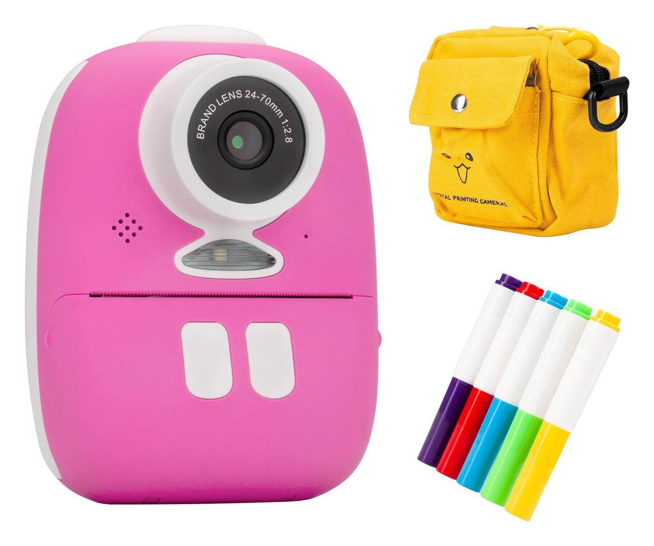 Redleaf BOB Дитяча камера з принтером - рожевий, синій, жовтий