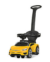 Электромобиль - каталка - толокар Bambi Tesla с родительской ручкой музыка и свет фар