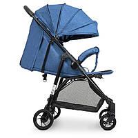 Коляска детская Bambi Синяя на полиуретановых колесах 4249