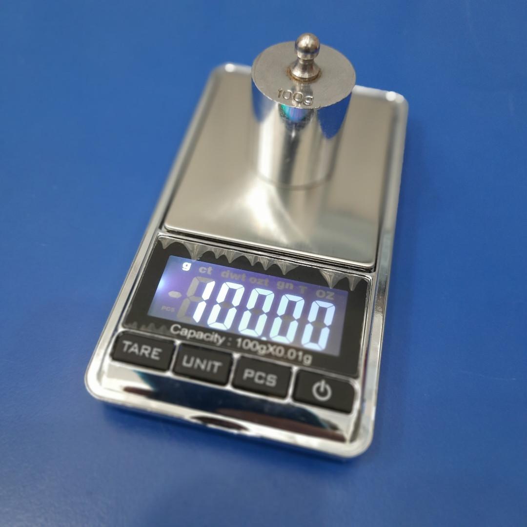 Точные ювелирные весы DS-New (100g/0,01) калиброванные