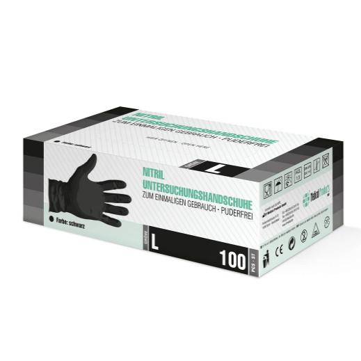 Перчатки SF Medical нитриловые смотровые нестерильные неприпудренные р.М