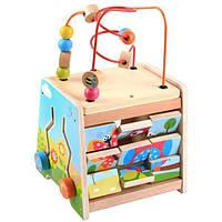 Развивающая деревянная игрушка бизиборд арт. 23086