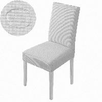 Универсальный чехол на стул светло-серый