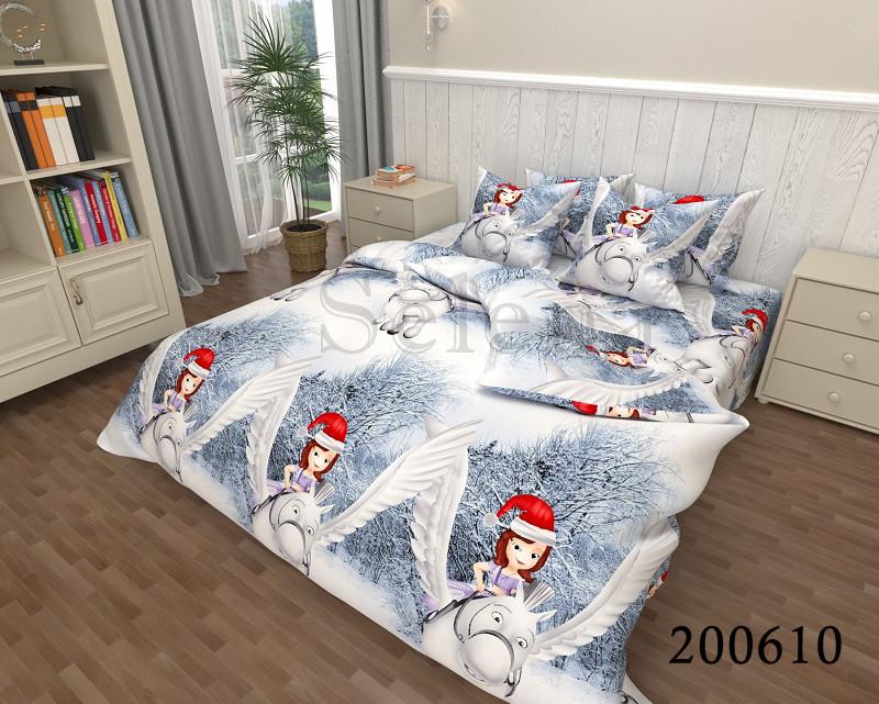 Детское новогоднее постельное белье Принцесса София