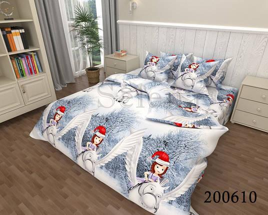Детское новогоднее постельное белье Принцесса София, фото 2