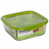 Емкость стеклянная Luminarc Keep`n`box 760мл с пластиковой зеленой крышкой