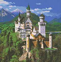 Алмазная мозаика Замок в горах DM-366 50х50см Полная зашивка. Набор алмазной вышивки
