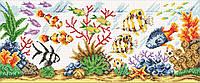 Алмазна мозаїка Акваріум DM-364 60х25см Повна зашивання. Набір алмазної вишивки, фото 1