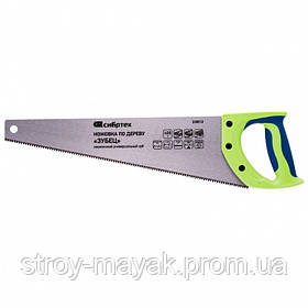 """Ножовка по дереву """"Зубец"""" 400 мм, 7-8TPI, закаленный зуб-3D, защитное покрытие, 2К рукоятка, СИБИРТЕХ"""