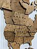 Карта мира на стену многослойная из дерева, фото 10