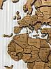 Карта мира на стену многослойная из дерева, фото 9