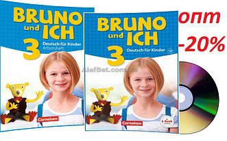 Немецкий язык / Bruno und ich / Schülerbuch+Arbeitsbuch+CD. Учебник+Тетрадь (комплект), 3 / Cornelsen