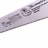 Ножовка по дереву 450 мм, 7-8 TPI, закаленный зуб - 3D, двухкомпонентная рукоятка, MTX, фото 3