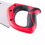 Ножовка по дереву 450 мм, 7-8 TPI, закаленный зуб - 3D, двухкомпонентная рукоятка, MTX, фото 4