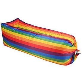 Надувной матрас |  Надувной лежак Ламзак Air Sofa Rainbow Радуга