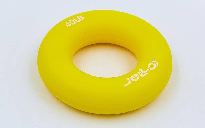 Эспандер кистевой Кольцо (1шт) JLA473-40LB (TPR, d-7см, нагрузка 40LB(18кг), желтый)