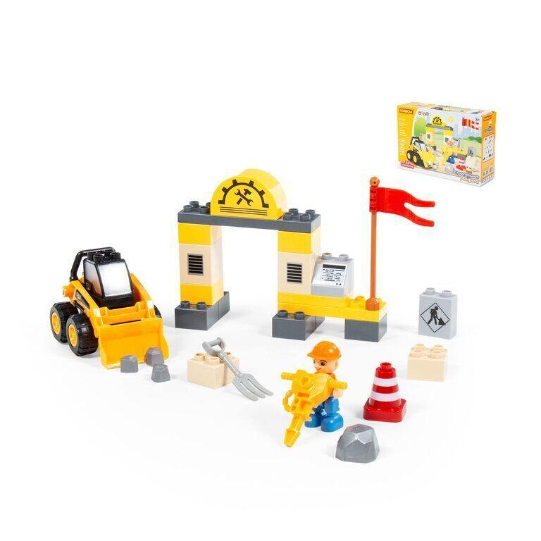 Конструктор Макси - Строительная фирма (36 элементов) Полесье 77622