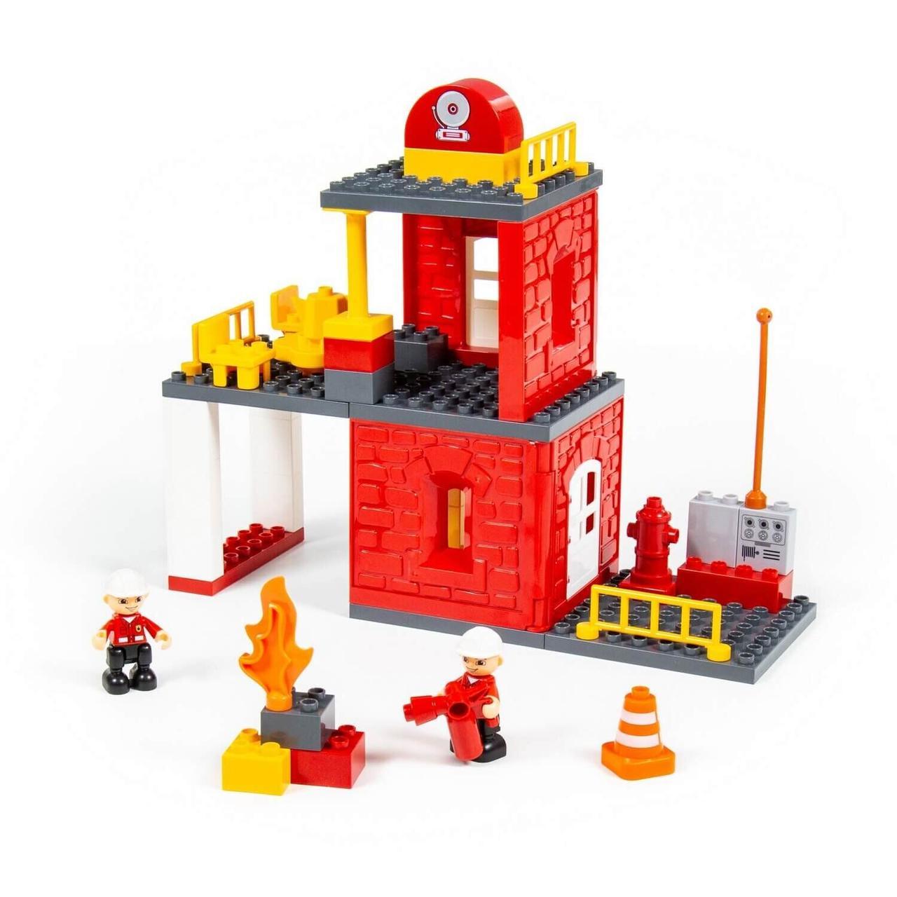 Конструктор Макси - Пожарная станция (64 элемента) Полесье 77516