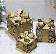 Світлодіодний (LED) декор під ялинку Новорічні подарунки (набір 3 шт)