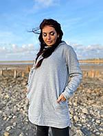 Женское теплое худи с рожками больших размеров, фото 1