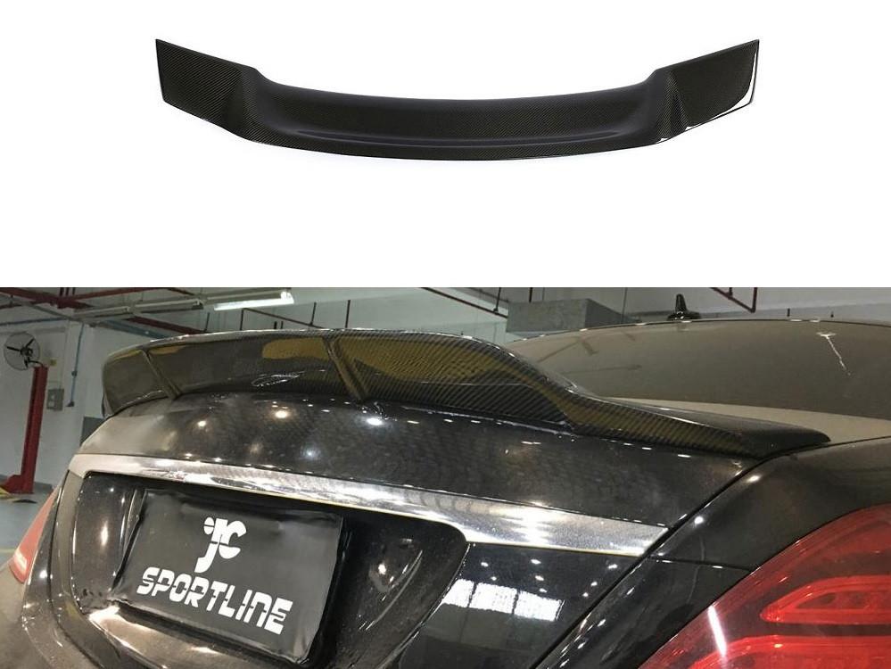 Карбоновый спойлер Mercedes W222 тюнинг Ducktail