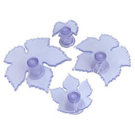 """Плунжеры и резаки для мастики   Выемок пластиковый """"Виноградные листья"""" 8655 (4шт)"""
