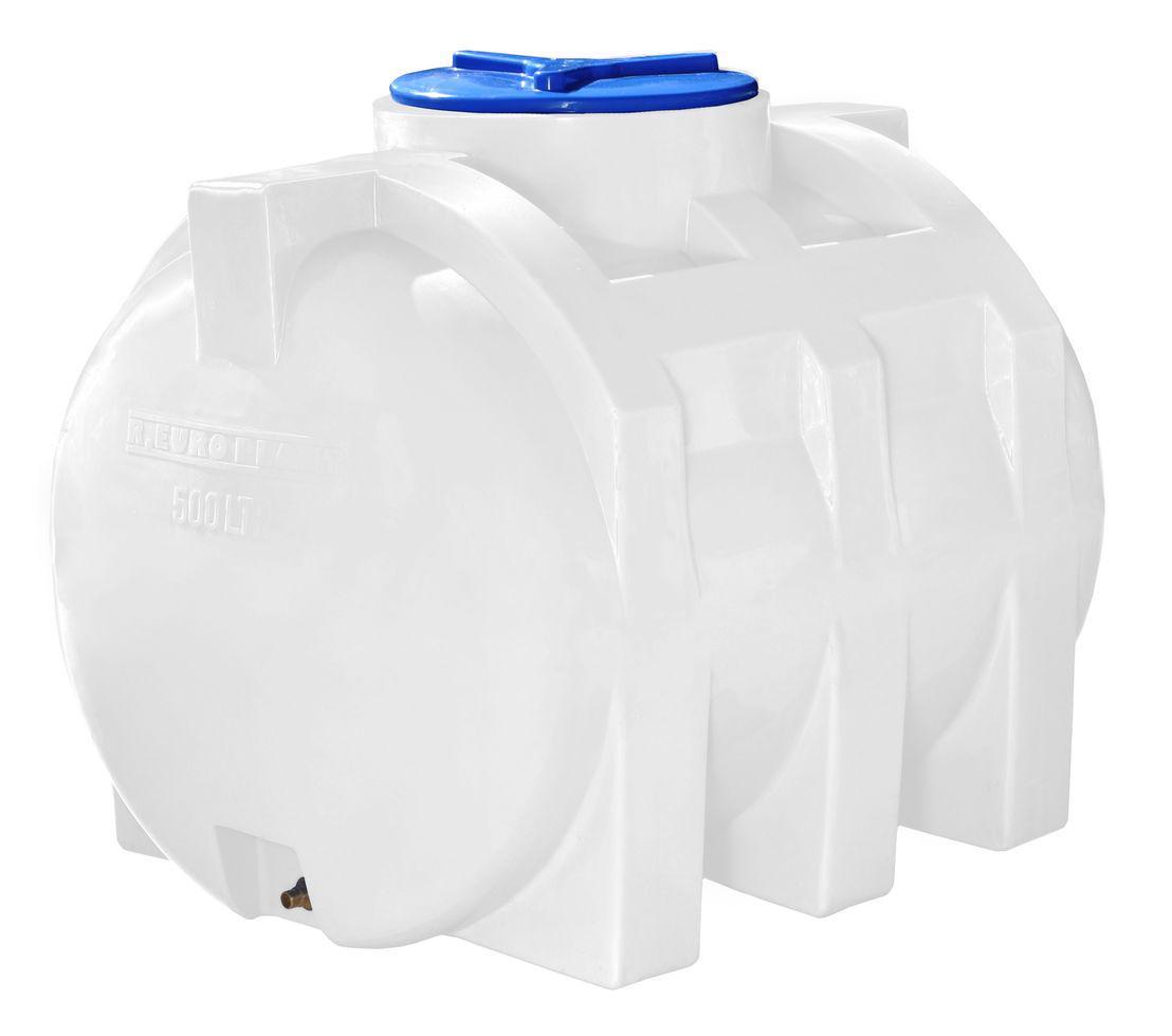 Горизонтальная 500 литров бочка, бак, емкость пищевая усиленная для транспортировки RGО