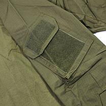 Тактическая рубашка Lesko A655 Green 3XL (40 р.) мужская милитари с длинным рукавом камуфляж армейская убакс, фото 2