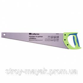 """Ножовка по дереву """"Зубец"""" 500 мм, 7-8TPI, закаленный зуб-3D, защитное покрытие, 2К рукоятка, СИБИРТЕХ"""
