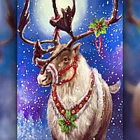 Алмазная вышивка мозаика The Wortex Diamonds Помошник Деда Мороза 30х40см TWD70002 полная зашивка квадратные