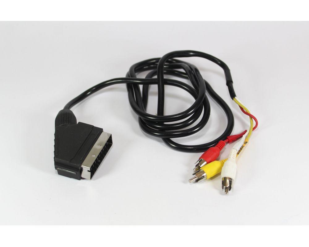 Шнур для подключения видео оборудования | Универсальный кабель | Кабель переходник | Шнур 21P-3R 1.2m