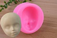 """Молд силиконовый """"Лицо куклы 10"""", 5,4*5,4*2 см, готовый продукт 4*3,3*2 см."""