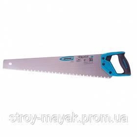 """Ножовка по дереву """"PIRANHA"""" 550 мм, сегментное строение кромки, 7-8 TPI, зуб-3D, 2К рукоятка, пила GROSS"""