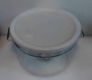 Контейнер для еды | Судок для еды | Контейнер поликарбонатный круглый для хранения с крышкой 12000мл 2841