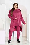 Невероятно стильный и удобный костюм - туника и штаны, разные цвета р.48-50,52-54,56-58,60-62,64-66 Код 3396Ф, фото 2