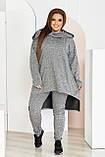 Невероятно стильный и удобный костюм - туника и штаны, разные цвета р.48-50,52-54,56-58,60-62,64-66 Код 3396Ф, фото 6