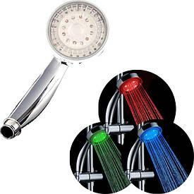 Насадка для душа   Подсветка для душа   LED насадка для душа Shower 3 colour
