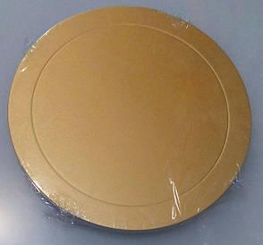 Подложка для торта круглая золотого и серебряного цвета Ø 360мм 0292 (20шт)