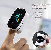 Пульсометр на палец оксиметр сатурация пульс BOXYM OFit2 экран OLED, фото 3