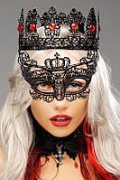 Женская карнавальная маска на глаза корона чёрный ( 190 008 )