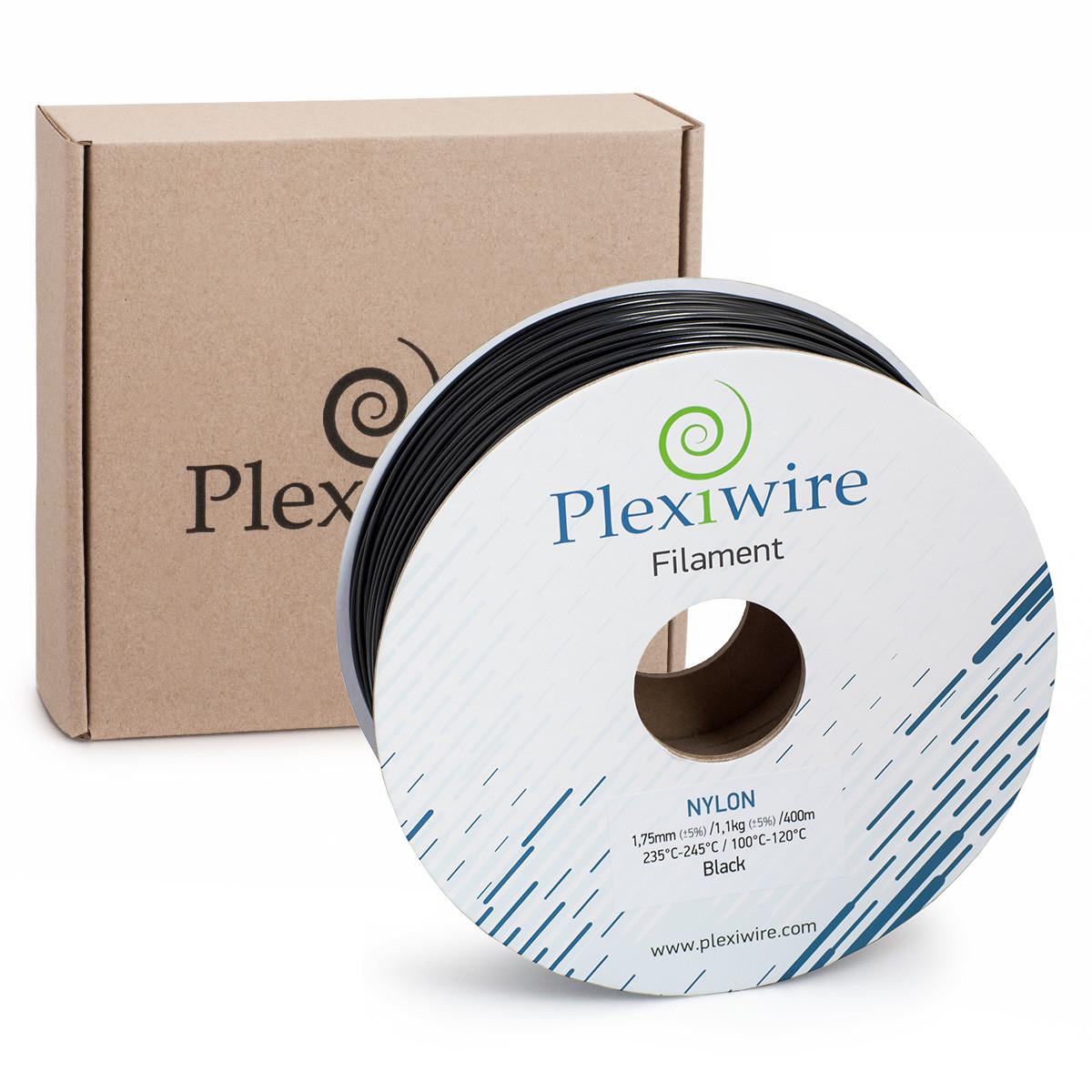 NYLON пластик Plexiwire для 3D принтера 1.75 мм Чорний (400 м / 1.1 кг)