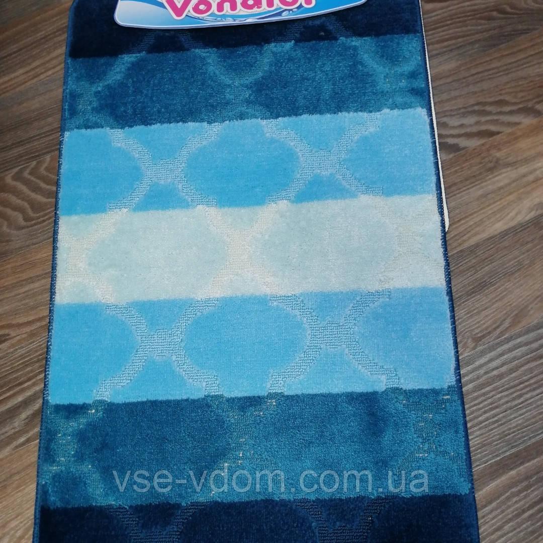 Набор ковриков для ванной комнаты Vonaldi синий 60*100