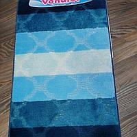 Набор ковриков для ванной комнаты Vonaldi синий 60*100, фото 1