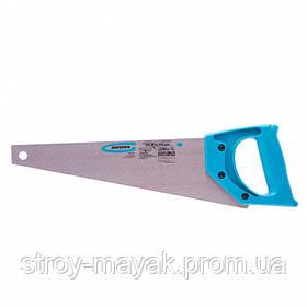 "Ножовка для ламинатy ""PIRANHA"" 360 мм, 15-16 TPI, закаленный зуб - 2D, пластиковая рукоятка, GROSS"