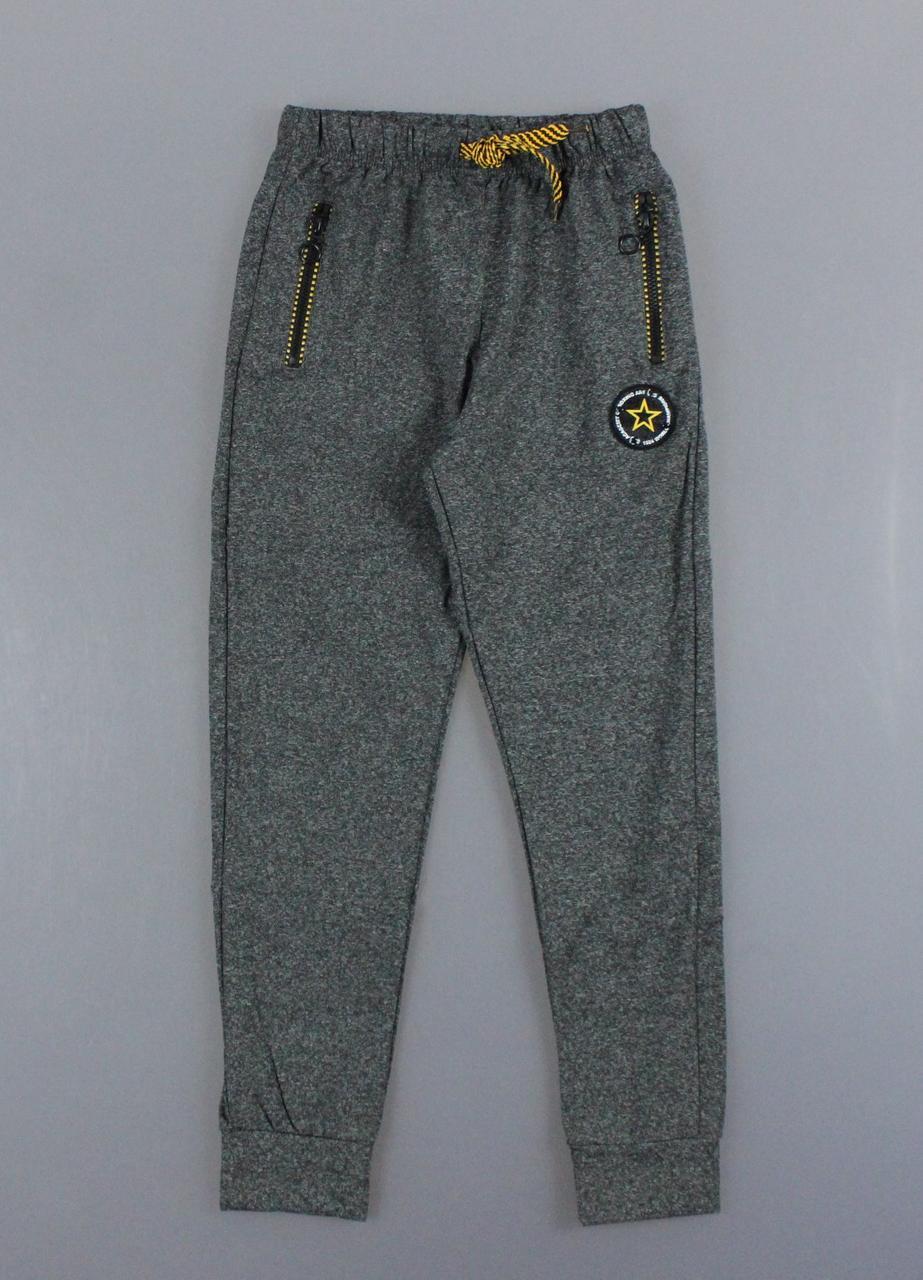{есть:146} Спортивные брюки с начесом для мальчиков Sincere,  Артикул: LL2336-т.серый [146]