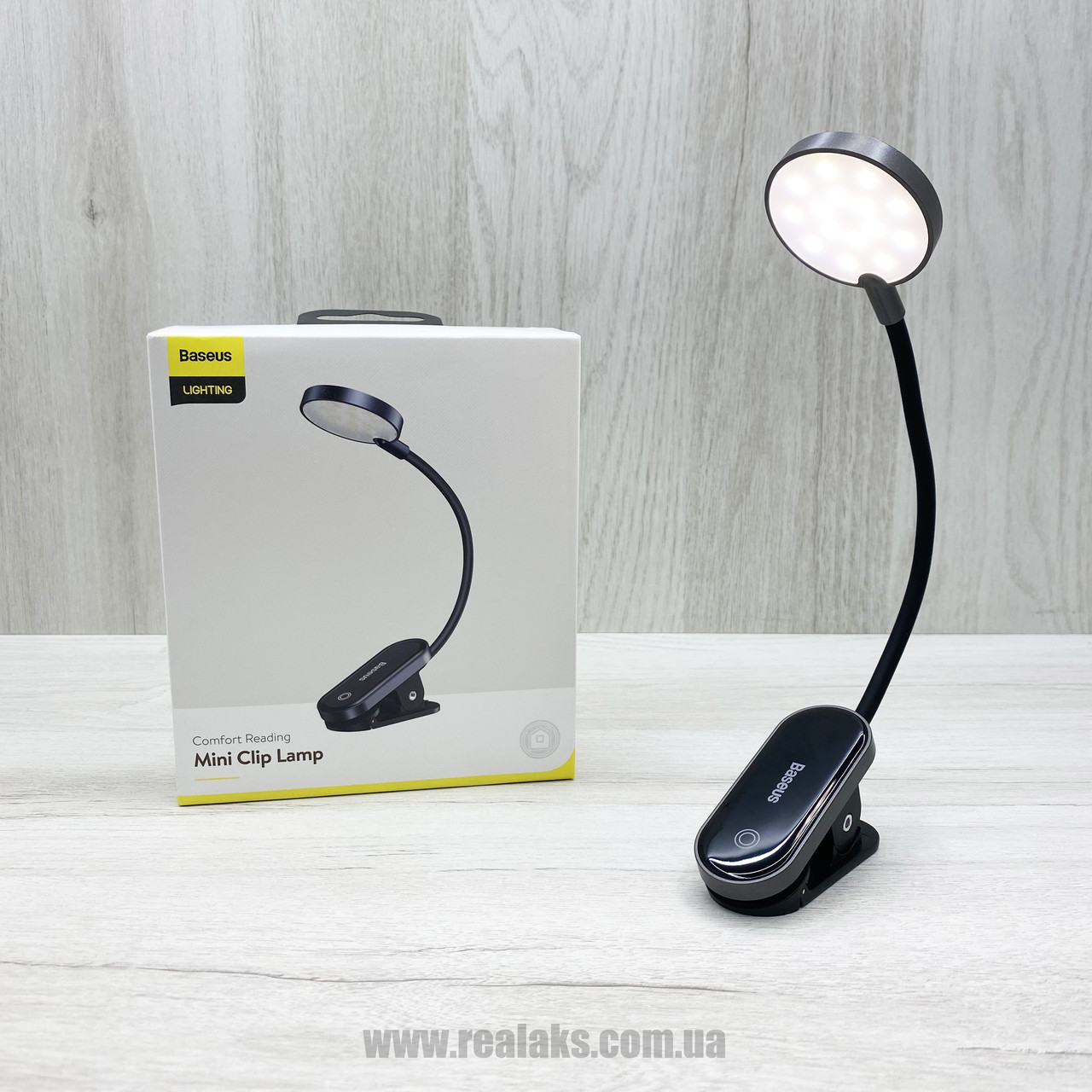 Универсальная лампа с клипсой BASEUS Mini Clip Lamp (black)