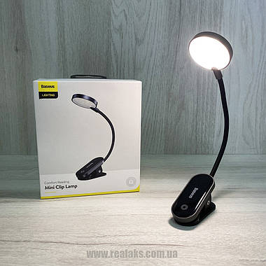 Универсальная лампа с клипсой BASEUS Mini Clip Lamp (black), фото 2