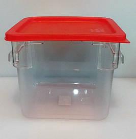Контейнер для еды | Судок для еды | Контейнер поликарбонатный квадратный для хранения с крышкой 6000мл 2828