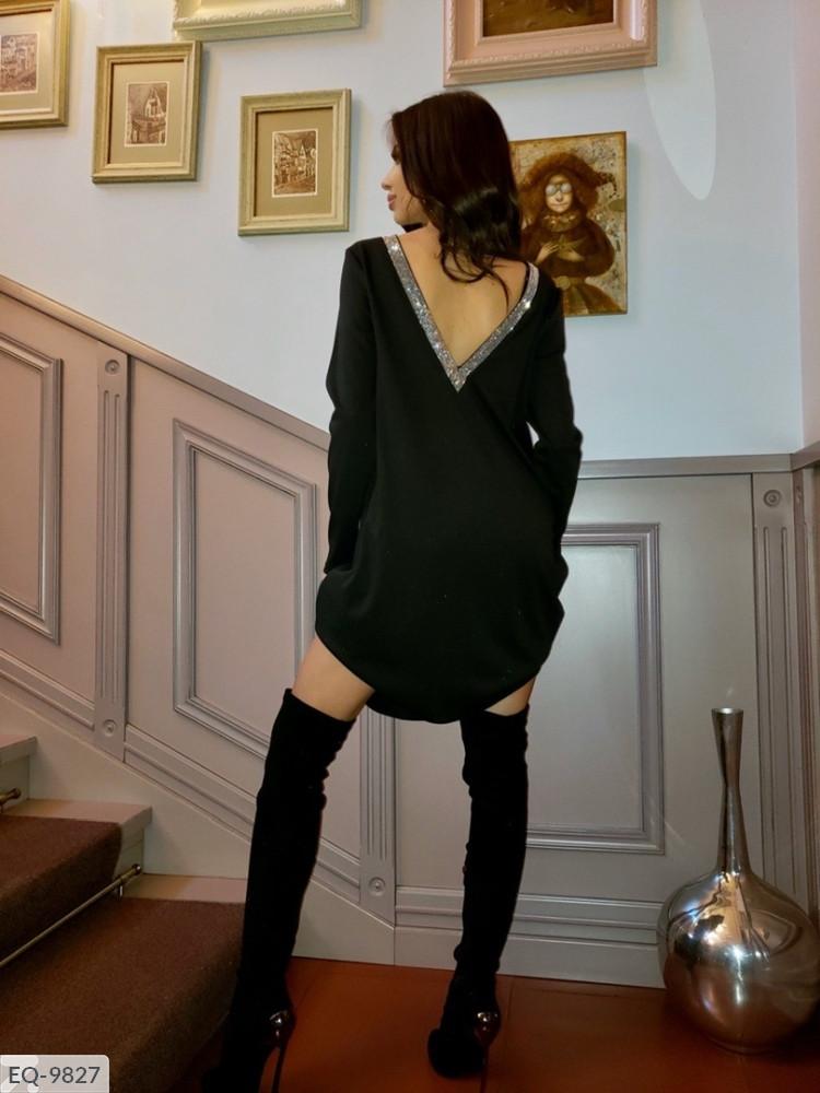 Платье женское черное мал1038
