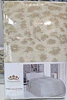 """Льняная махровая простыня """"Леопард"""" (220 на 200 см), фото 1"""